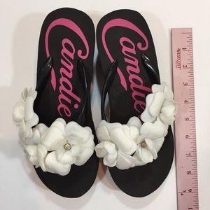 34fd71bf58b8dd Candies Shoes - CANDIES PLATFORM FLIP FLOPS SANDALS BLACK 5 6 NEW